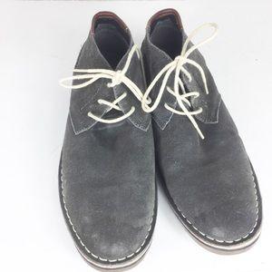Kenneth Cole Men Gray Desert Sun Ankle Boots